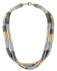 Topshop Women'S Cap Necklace - Gold Multi - Lyst