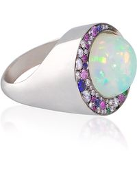 Noor Fares Eclipse Opal Ring - Lyst