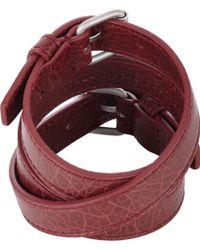 Balenciaga Classic Arena Triple-wrap Bracelet - Lyst