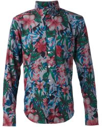 Naked & Famous Floral Print Shirt - Lyst