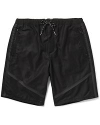 O.a.m.c Black Tape-Trimmed Shorts - Lyst
