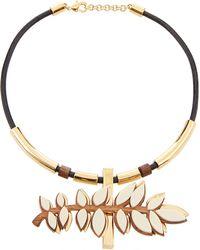 Lela Rose - Leaf Shaped Choker Necklace - Lyst