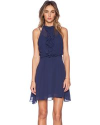 BCBGeneration Ruffle Front Dress - Lyst