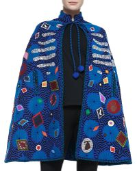 Libertine Embellished Applique Wool Cape - Lyst