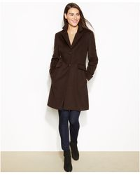 Calvin Klein Single-breasted Wool-cashmere-blend Coat - Lyst