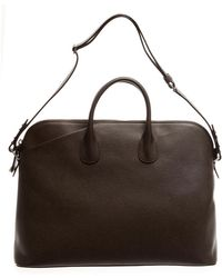 Valextra - Leather Holdall Bag - Lyst