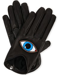 Causse Gantier Embellished Eye Leather Gloves - For Women - Lyst
