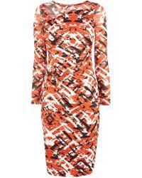Karen Millen Colourful Print Dress - Lyst