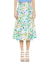 Milly Printed Midi Skirt multicolor - Lyst