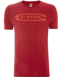 G-star Raw Gstar Crew Neck T Shirt - Lyst