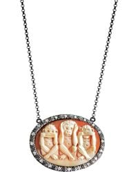 Amedeo - 3 Monkeys Necklace - Lyst