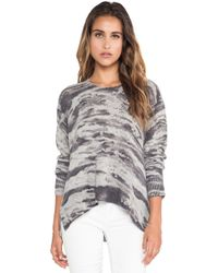 Enza Costa Cashmere Printed Loose Crew Sweater - Lyst