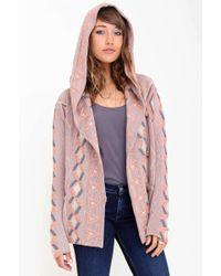 Goddis Mika Hooded Cardigan pink - Lyst