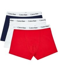 Calvin Klein 3 Pack Trunk red - Lyst