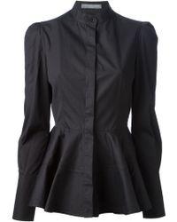 Alexander McQueen Black Flared Shirt - Lyst