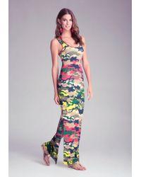 Bebe Logo Double Slit Maxi Dress - Lyst