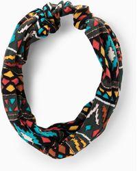 Mango   Ikat Print Headband   Lyst