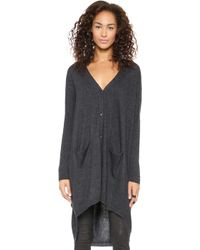 Just Female Carla Long Cardigan Antransit Melange - Lyst