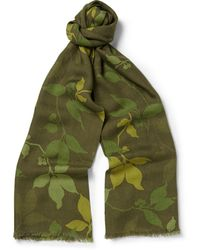 Richard James Printed Cashmere and Silk Blend Scarf - Lyst