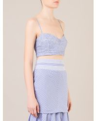 Cris Barros Blue Striped Bralet - Lyst