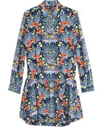 Marc By Marc Jacobs Maddy Botanical Print Silk Shirt Dress - Lyst