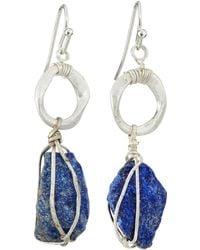 Nakamol Wire-wrapped Lapis Lazuli Earrings - Lyst