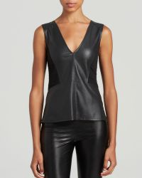 Sanctuary Quilted Faux Leather Top - Lyst