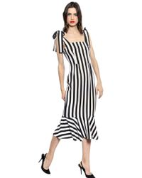 Dolce & Gabbana Striped Viscose Cady Dress - Lyst