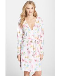 Lauren by Ralph Lauren Floral Print Cotton Jersey Robe - Lyst