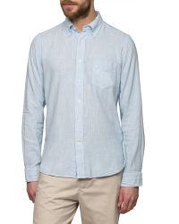 Folk | Ecru Light Blue Shirt | Lyst