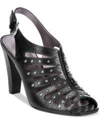 Adrienne Vittadini Gentri Caged Sandals - Lyst