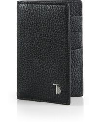 Tod's Vertical Leather Card Case - Lyst