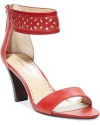 Adrienne Vittadini Red Sereen Sandals - Lyst