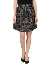 McQ by Alexander McQueen Knee Length Skirt gray - Lyst