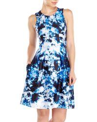 Cynthia Rowley Bonded Seamed Waist Dress - Lyst