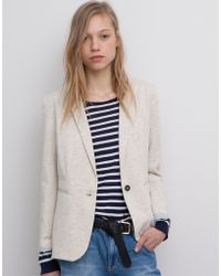 Pull&Bear Piped Pockets Sports Jacket - Lyst