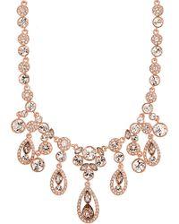 Givenchy - Crystal Glitz Collar Necklace, Rose Goldtone - Lyst