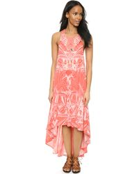 Free People La Mar Printed Dress - Tea Combo pink - Lyst