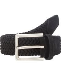 Barneys New York Elasticized Woven Belt - Lyst