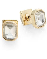 BCBGeneration - Pyramid Front-to-back Studs/goldtone - Lyst