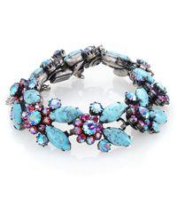 House of Lavande | Vendome Faceted Floral Bracelet | Lyst