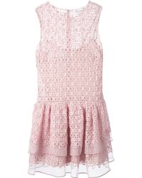 RED Valentino Floral Crochet Dress - Lyst