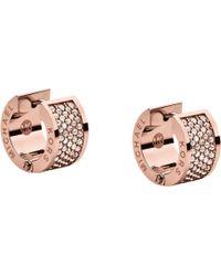 Michael Kors - Huggie Pave Crystal Wide Hoop Earrings - Lyst