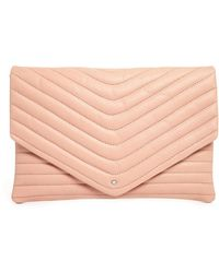 SELECTED - Lala Leather Clutch In Rose - Lyst