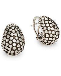 John Hardy Dot Sterling Silver Buddha Belly Earrings - Lyst