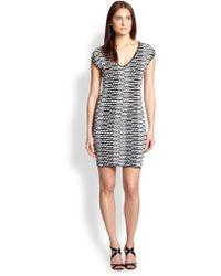 M Missoni Knit Pebble-Stripe Dress - Lyst