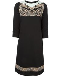 Etro Fitted Paisley Panel Dress - Lyst