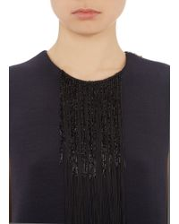 Lanvin Fringed Compact Knit Shell - Lyst