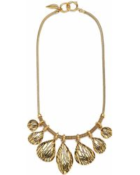 Diane von Furstenberg Shaky Teardrop Frontal Necklace gold - Lyst