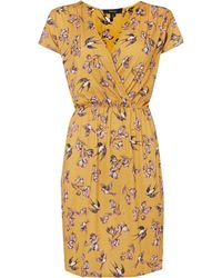 Therapy Bird Print Jersey Wrap Dress - Lyst